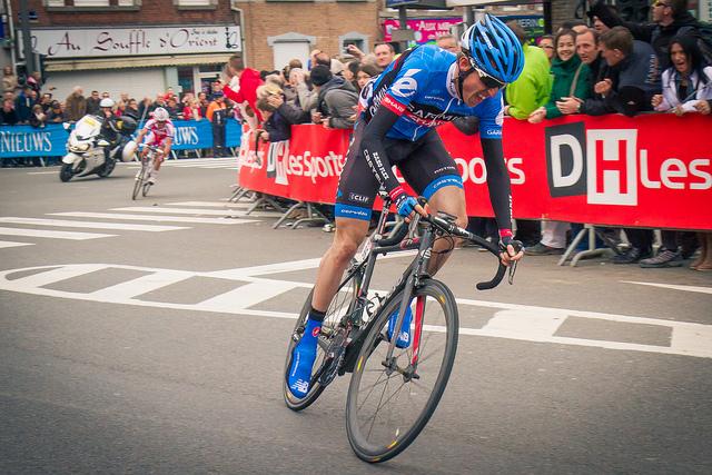 Dan Martin attacks to win Liege-Bastogne-Liege 2013 (Photo: Flowizm)
