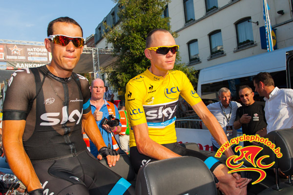 Richie Porte and Chris Froome (Photo: Rob Duin - Flickr)