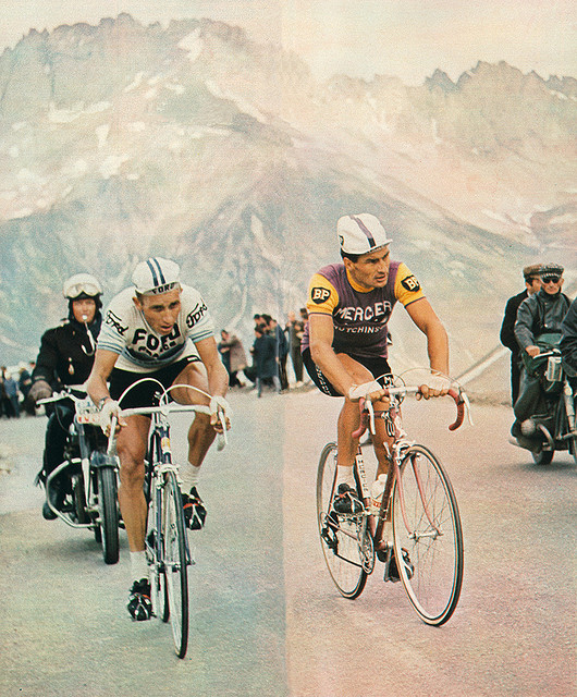 Poulidor and Anquetil, and their eternally cool casquettes (Photo: Chris Protopapas - Flickr)