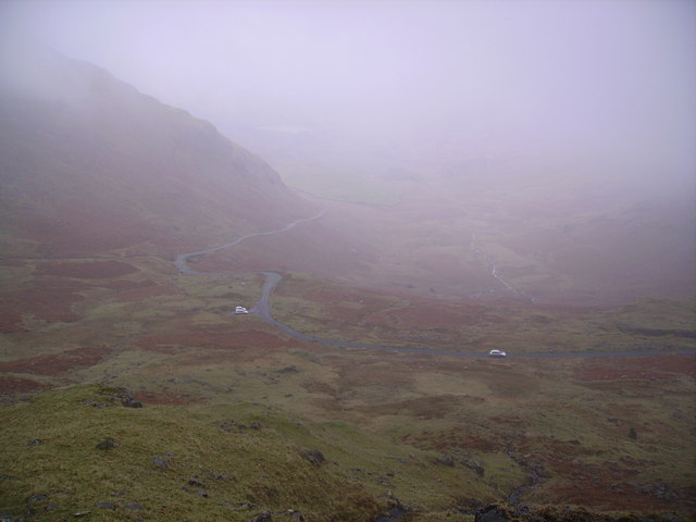 The Approach to Wrynose Pass (Photo: Michael Graham - geograph.co.uk)