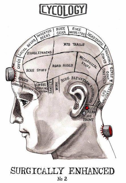 The brain of a cyclist (Photo: www.mountainbikingdiary.com)