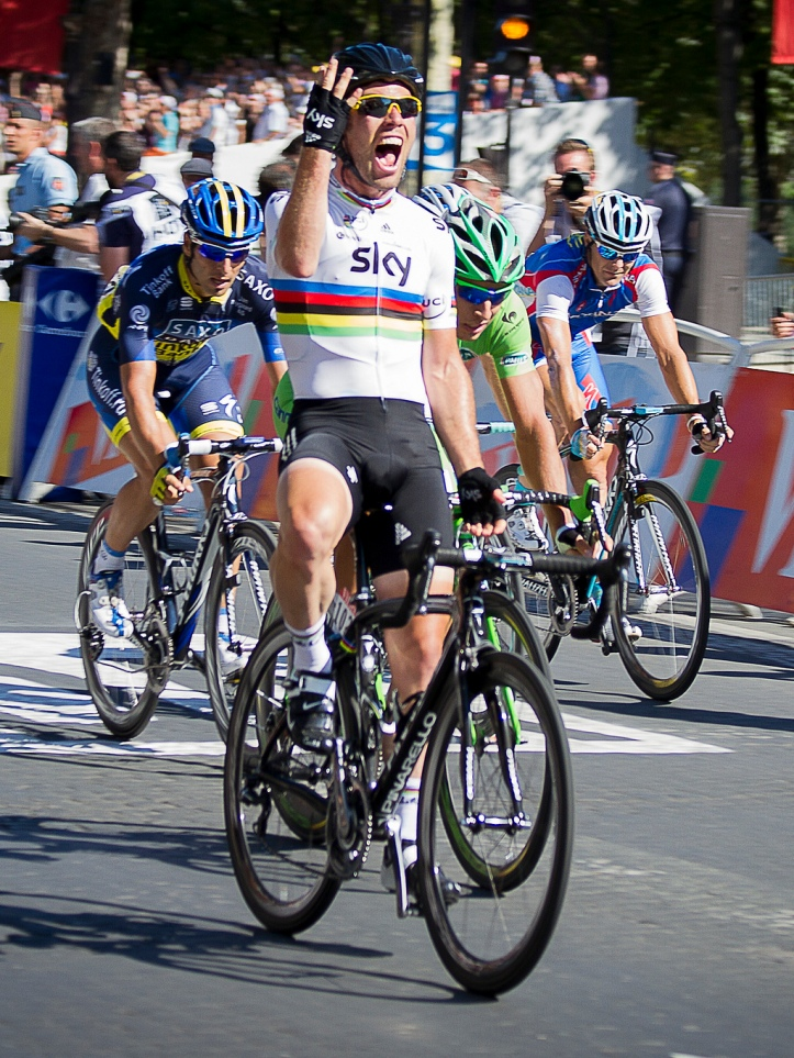 Cavendish at the business end of the race (Photo: William Morice - Wikimedia Creative Commons)