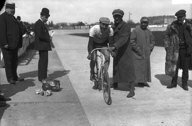 Cyrille Van Hauwaert - winner of Bordeaux - Paris in 1909 (Photo: Bibliotheque Nationale de France)
