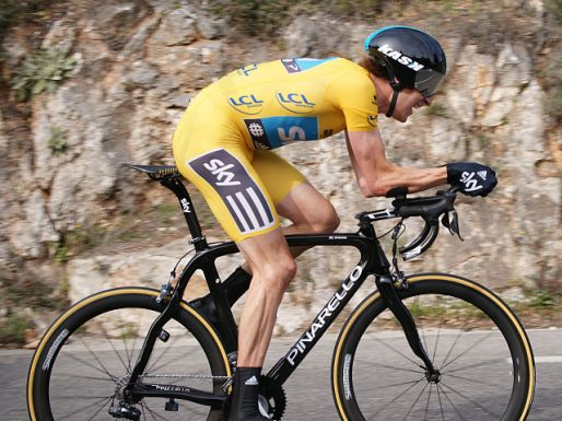 Wiggins in time-trail mode (Photo: Dacoucou - Wikimedia CC)