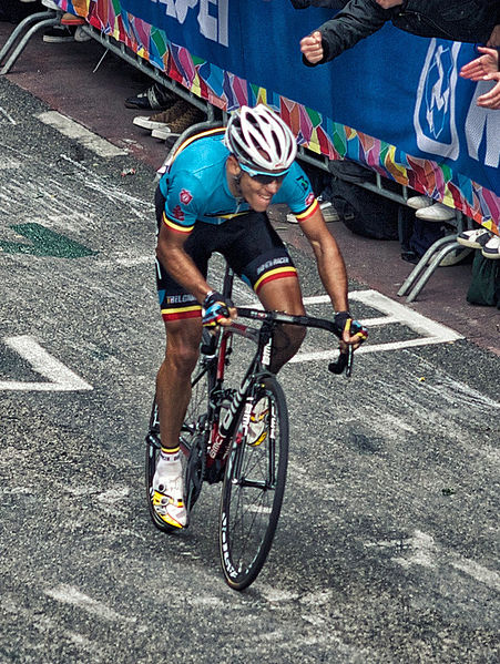Philippe Gilbert: looks like he's going for a Strava segment? (Photo: Michiel Jelijs - Wikimedia CC)