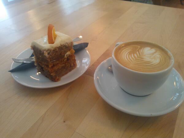 Coffee and Cake: happier times from a previous cafe stop
