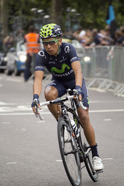 Nairo Quintana at the Tour of Britain  (Photo: Katie Chan - Wikimedia CC)
