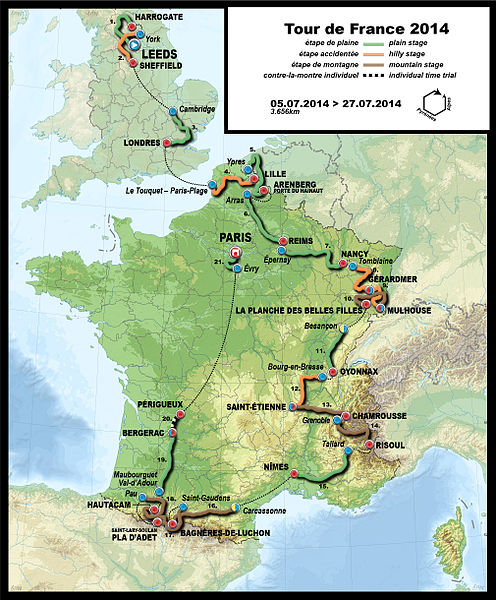 Tour de France 2014 (Photo: Nuy Wikimedia CC)