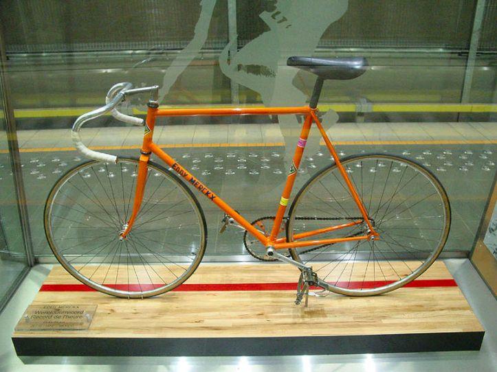 Eddy Merckx's Hour Record Bike from 1972 (Image: Wikimedia CC)