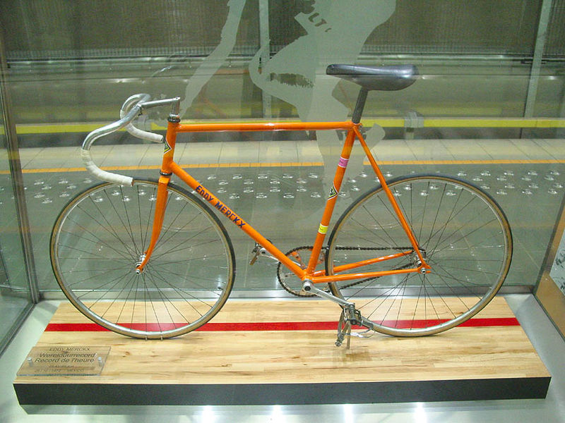 Eddy Merckx's Hour Record Bike from 1972 (Image: Wikimedia CC)