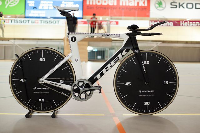 Jens Voigt's Hour Record Bike 2014 (Image: Ludovic Peron - Wikimedia CC)