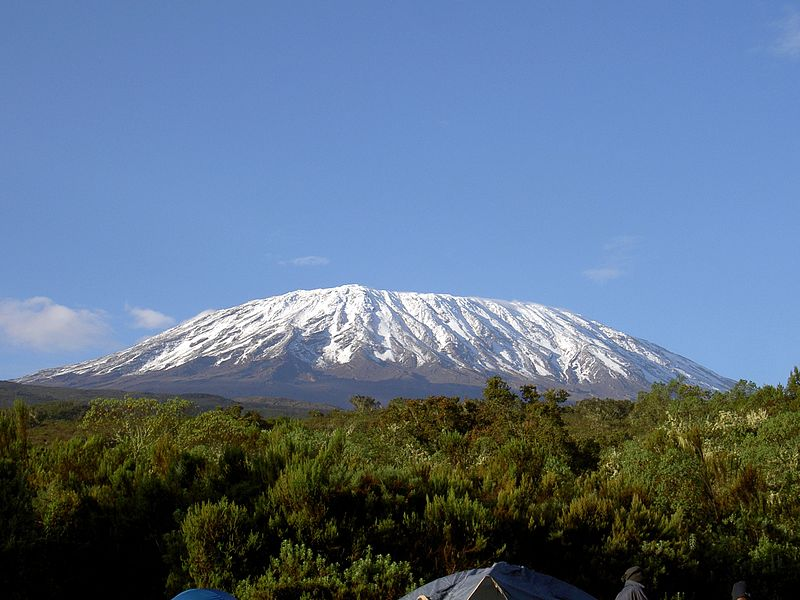 Mount Kilimanjaro (Image: via Wikipedia under creative commons license)