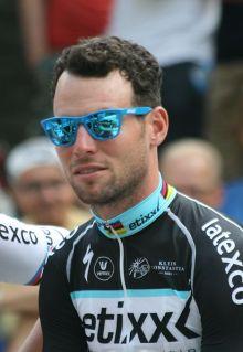 Mark Cavendish at the 2015 Tour de France team presentations (Image: Bert de Boer via Wikimedia cc)