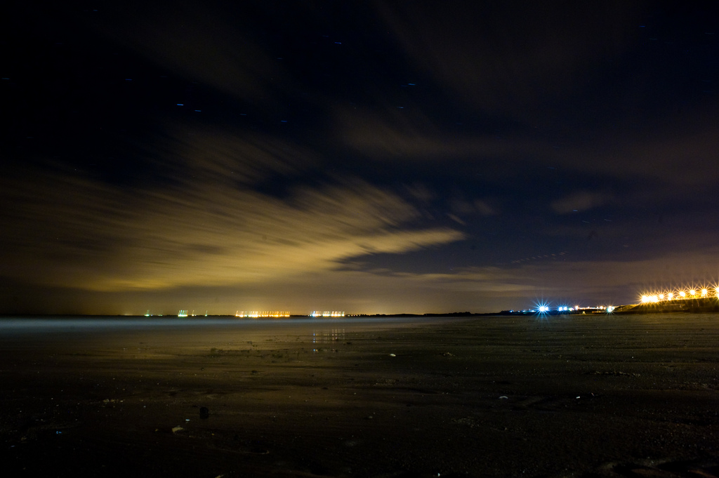 bridlington by night