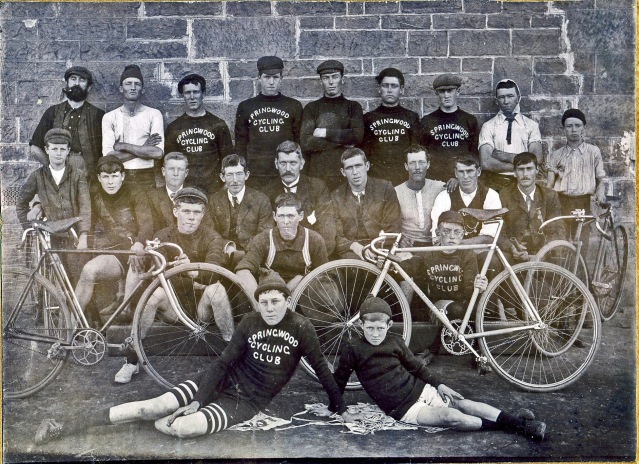 old time cyclists