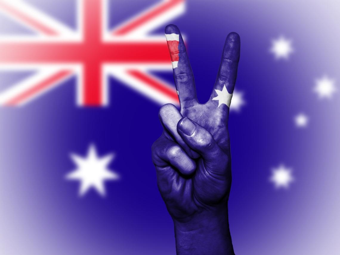Australian flag celebration