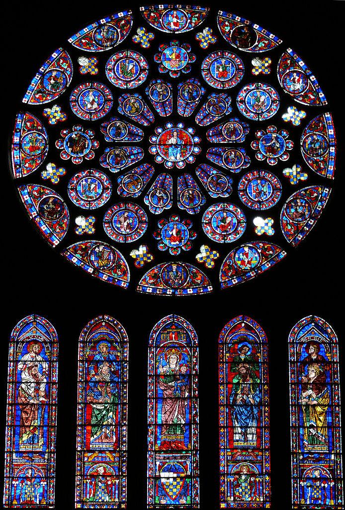 694px-Chartres_-_Rose_du_transept_Sud_-1