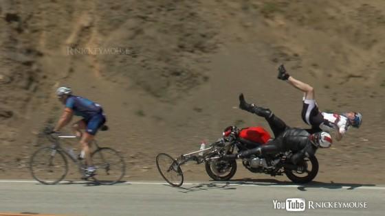 cyclist motorbike crash